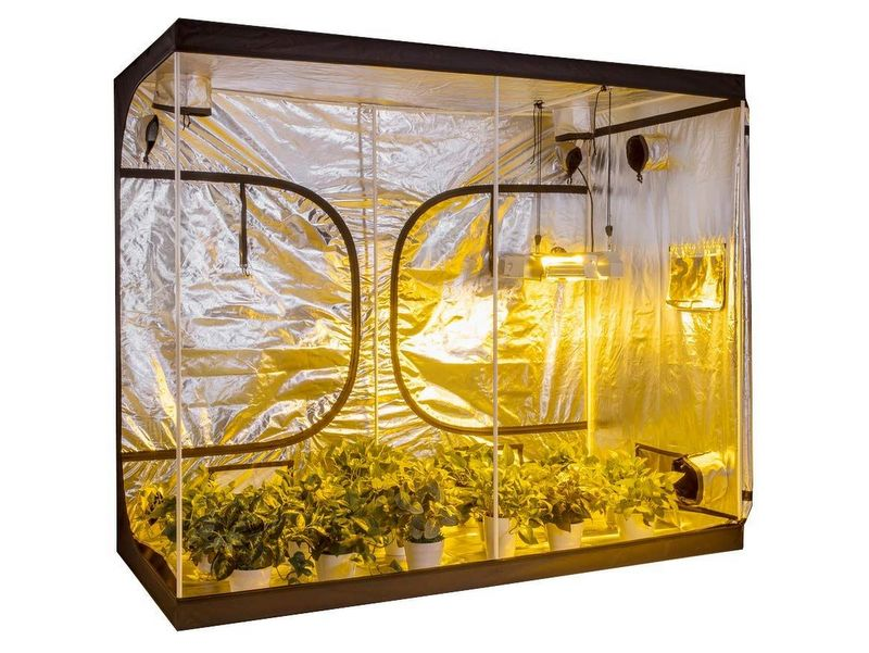 A Hydroponics Grow Camping Tent